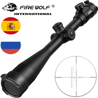 10 40x50 Long Range Riflescope Side Wheel Parallax Optic Sight Rifle Scope Hunting Scopes Sniper Luneta Para Rifle