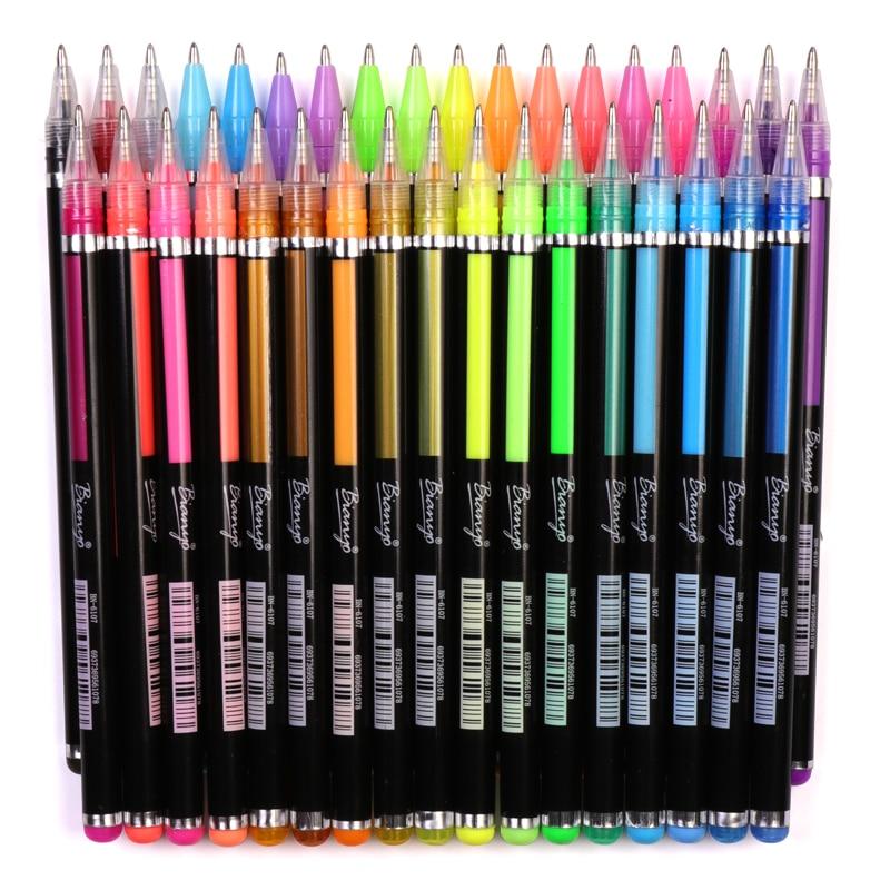 Bianyo 36 Farbe/Set Glitter Highlight Stift für Kinder Schule Kunst ...
