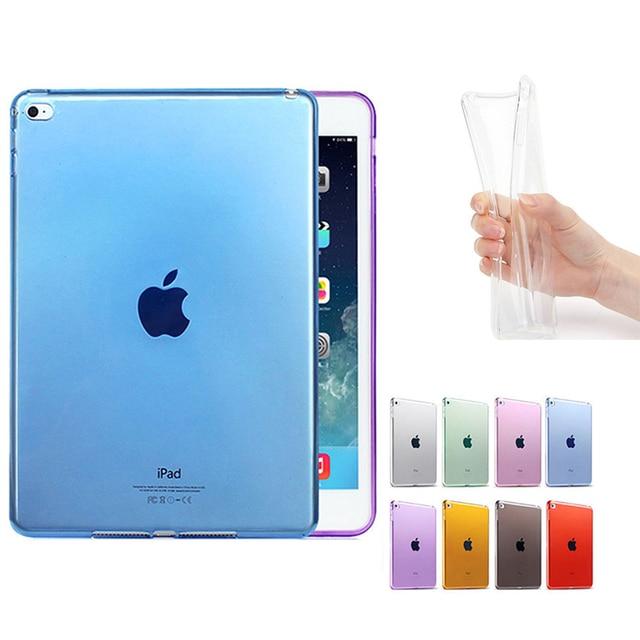 New Rắn Coque đối với iPad 9.7 2017 Trường Hợp TPU Mềm Trong Suốt Funda đối với iPad 2017 9.7 A1822 A1823 Trường Hợp Rõ Ràng TPU Bảo Vệ