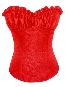 Image 2 - Caudatus korsetts und bustiers für frauen floral brokat korsett mit riemen sexy plus größe kostüme mieder overbust cosplay