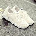 Платформа обувь белый/черный обувь женщина хлопчатобумажная ткань chaussure femme весна/осень швейные увеличение круглый тед дамы обувь