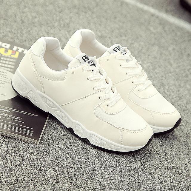 Zapatos de plataforma blanco/negro zapatos de mujer chaussure femme de tela de algodón de primavera/otoño aumento de costura redonda ted zapatos de las señoras