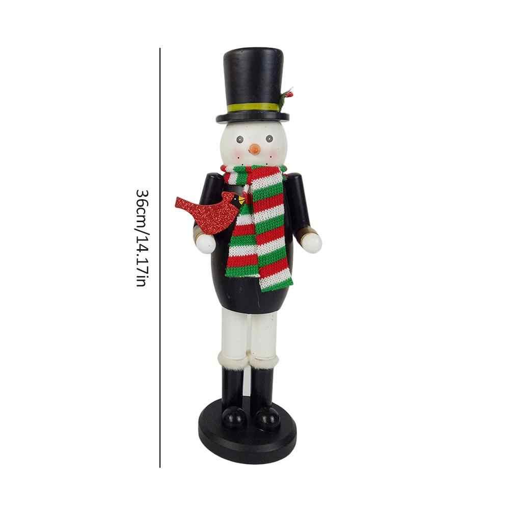 Новый 36 см Рождественский праздник деревянный эльф Щелкунчик Снеговик король эльф винтажный немецкий деревянный стол грецкий орех игрушка Zakka куклы