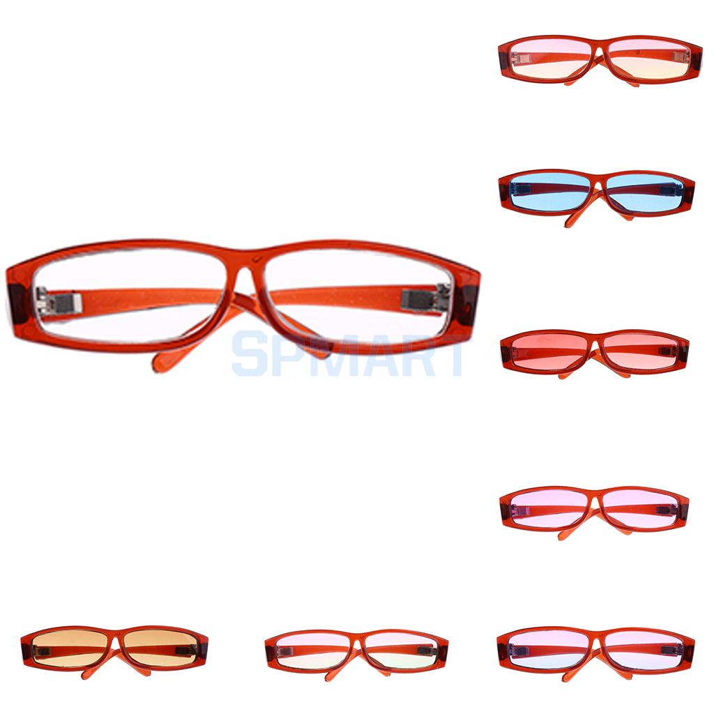 8 Options Fashion BJD Dolls Gradient Color Square Glasses for 1/3 BJD LUTS DOD SD Dolls Brown Frame Eyewear Outfit