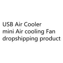 Portable Mini USB Air Conditioner Multifunction Cooling Fan with 7 Colors LED Lights Air Humidifier Purifier for Home Office