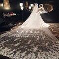 High-End Cathedral Long Wedding Veils Long Special 1.5 M Special Appliques Bridal Veil Wedding Accessories Bride Wedding Veil