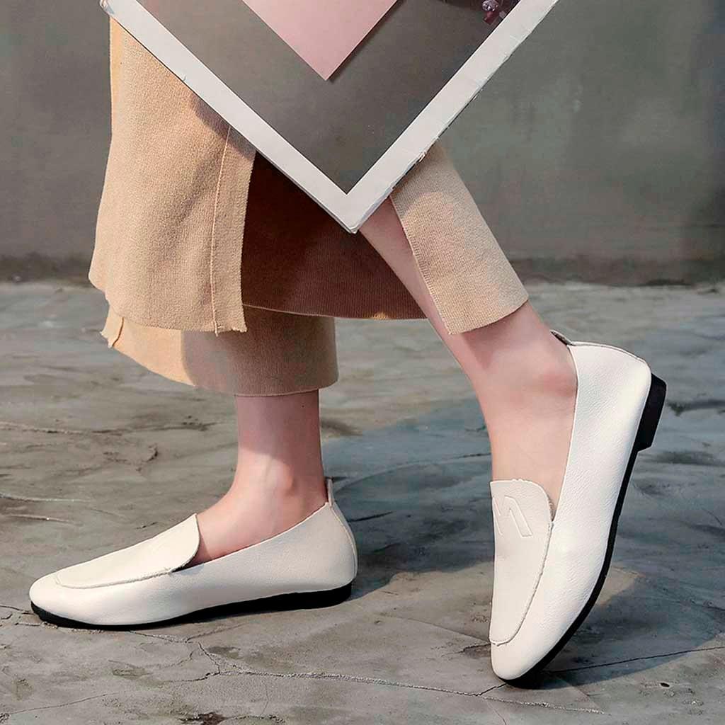 a5c58cab1 Moda Deslizar Slip Flats Loafer Sapatos Nova Barco Confortáveis Plano 2019  Mulheres Das Peas on Rodada c Casuais ...