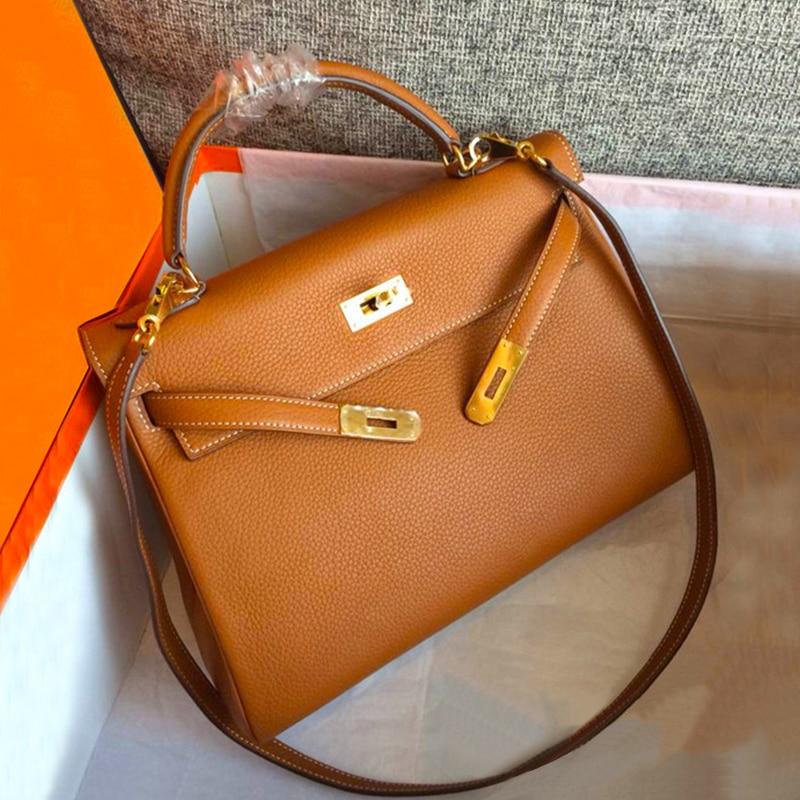 Bolsa Feminina 2018 Bags Handbags Women Famous Brands Designer Genuine Leather Lock Hasp Tote Crossbody Bags