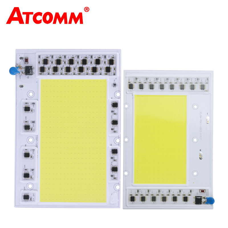все цены на Cob LED Chip Lamp Smart IC High Power 30W 50W 100W 150W 220V LED Matrix Diode Array Spotlight For Searchlight Street Floodlight онлайн