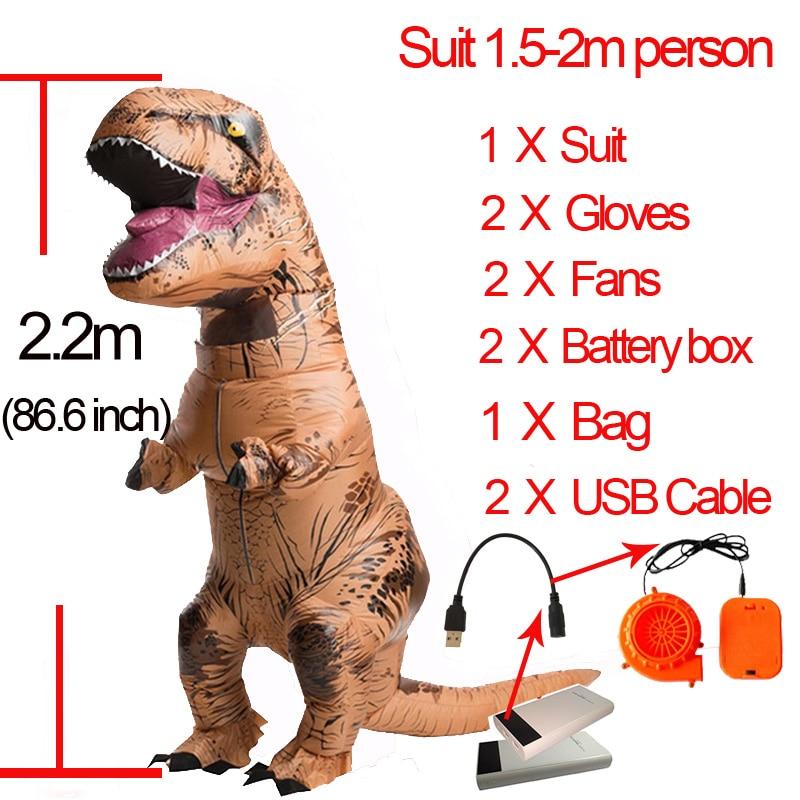 T Rex Gonflable Tyrannosaurus Rex Costume Halloween Landau Enfants Rôle À Jouer Vêtements Cosplay Partie T Rex Dinosaure Costume