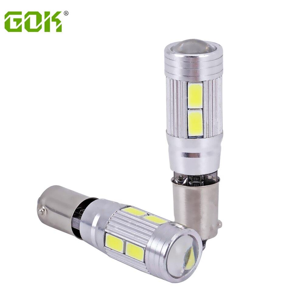 2pcs/lot Free shipping Car Auto LED BA9S bulb T4W led W5W Canbus ba9s 10smd 5630 5730 LED Light Bulb No error car led light