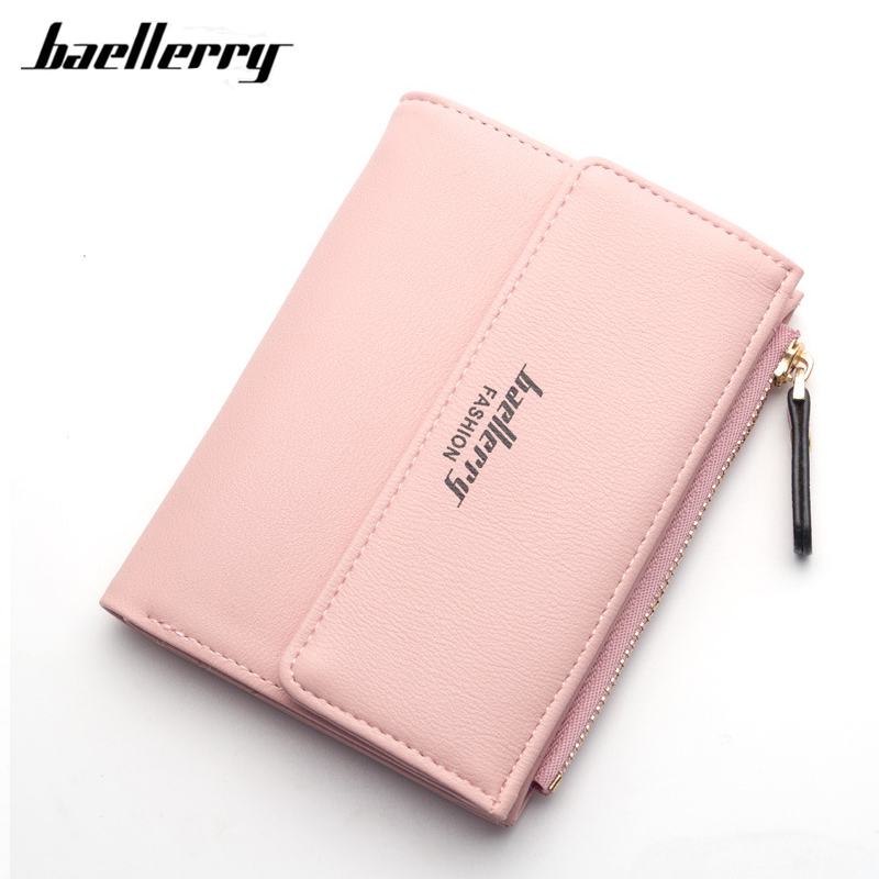 Baellerry Zipper&Hasp Women Wallet For Coin Card Cash Invoice Fashion Lady Small Purse Short Letter Priting Wallet Female Clutch fashion short wallet women with hasp zipper wallet small tassel female mini coin purse business card holder bags case
