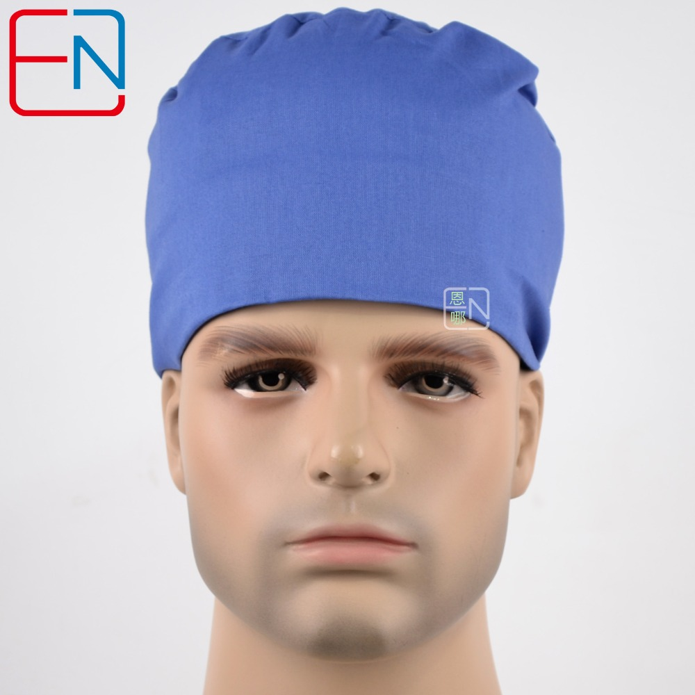 Hennar Surgical Caps Doctors Caps And Nurses Cap In Light Blue Medical Caps  100% Cotton