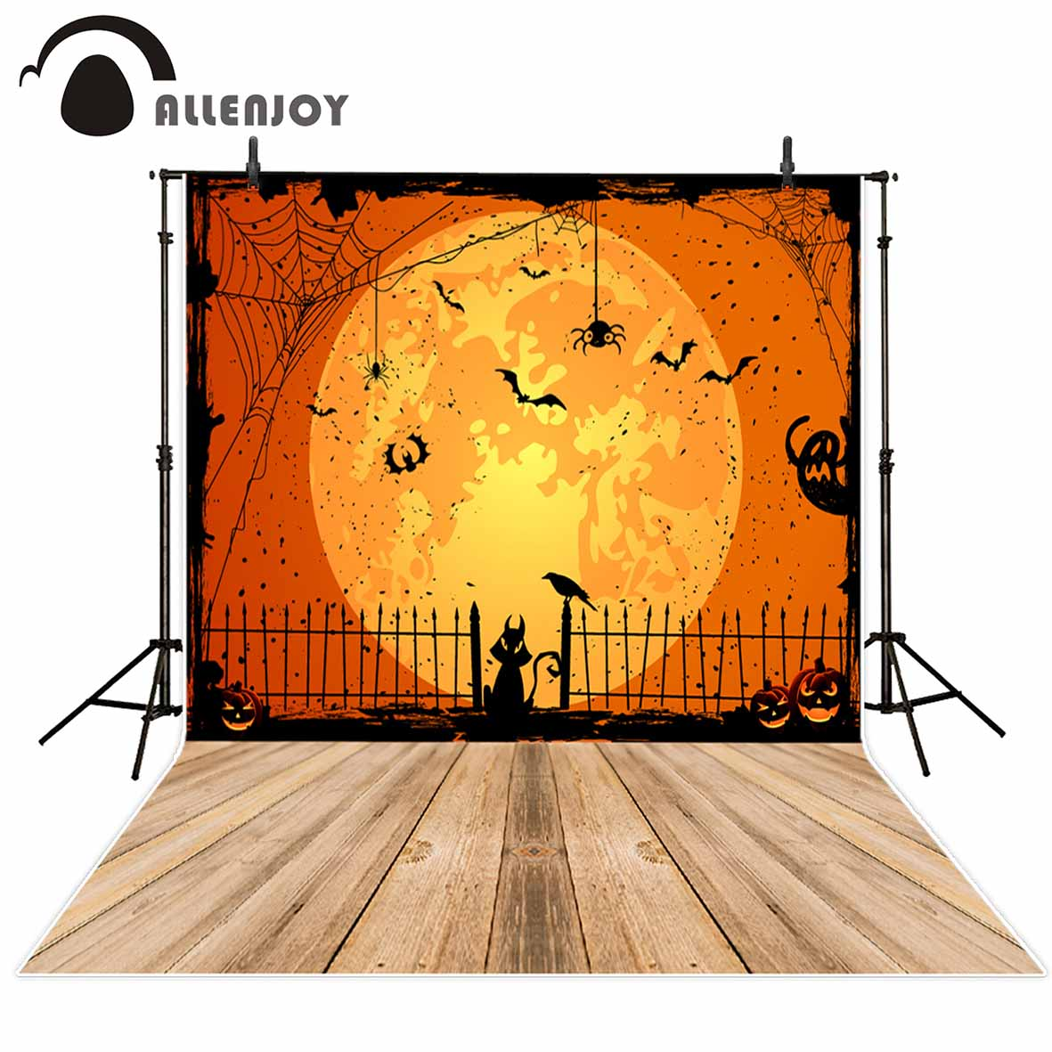 Zucca Halloween Gatto.Us 9 17 34 Di Sconto Allenjoy Sfondo Per La Foto In Studio Di Luna Piena Ragno Nero Gatto Zucca Di Halloween Sfondo Neonato Originale Disegno