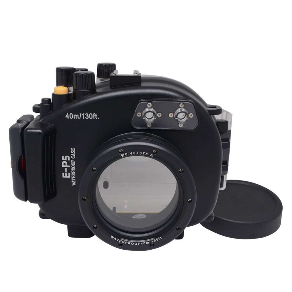 Mcoplus 40M Waterproof Underwater Diving Housing Shell Case For Olympus E-P5 EP5 (17mm) Camera