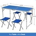 Mesas de jardín plegables al aire libre taburete ajustable de Picnic para barbacoa escritorio portátil ligero Simple de interior Silla de mesa plegable