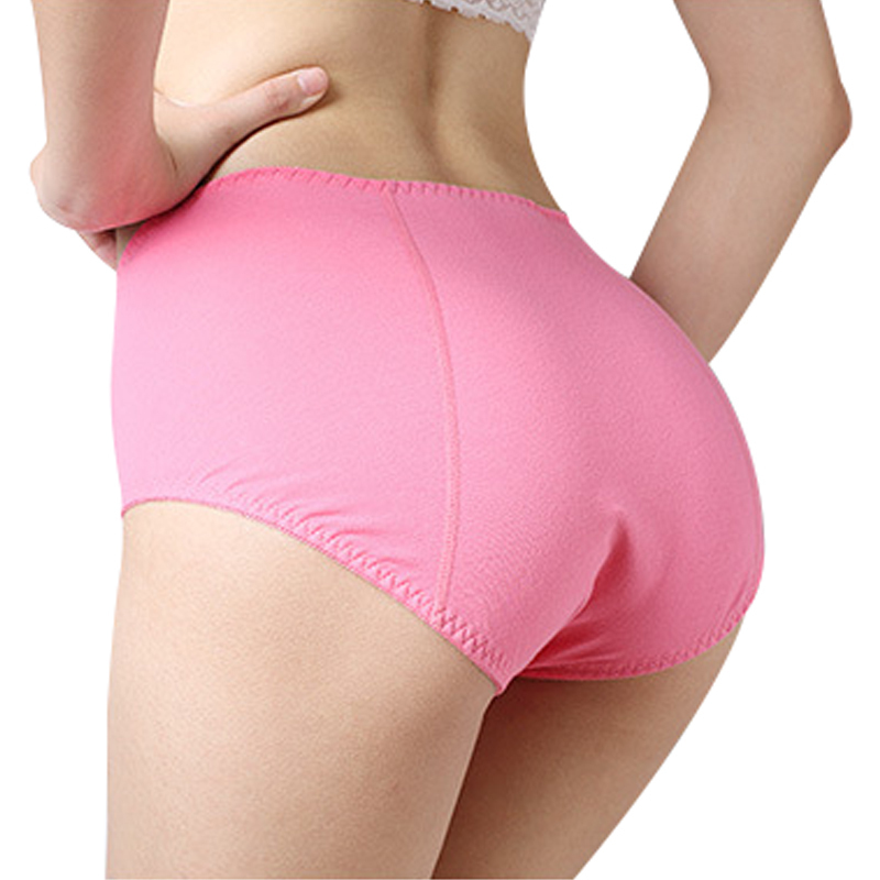 daily classic Woman   panties   menstruation Pure color sexy Underpants Ma'am Physiology Waterproof Antibiosis briefs