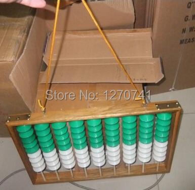 9 column wood frame hangering  Abacus  Chinese soroban  Tool In Mathematics Education for teacher XMF003 clock table model teacher demonstration with primary school mathematics science and education equipment three needle linkage