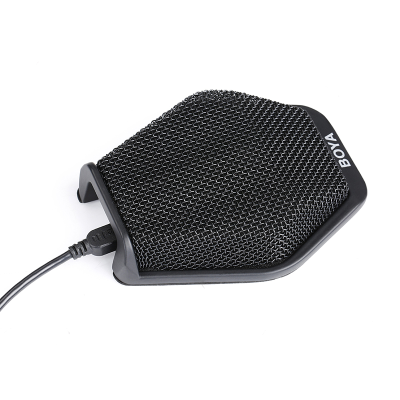 Original BOYA BY-MC2 Conference Microphone Super-cardioid Condenser Microphone Plug and Play Omnidirectional Microfono boya by mc2 portable usb condenser conference microphone durable for speech