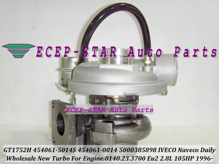 GT1752H 454061-5014S 454061-0014 454061 5000385898 Turbo Turbine Turbocharger For IVECO NAVECO DAILY 8140.23.3700 Eu2 2.8L 105HP