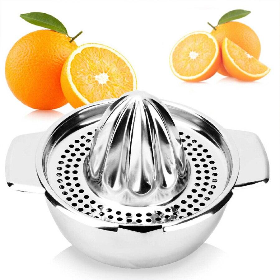 Mini Entsafter Haltegriff Orange Zitronensaft Maker Edelstahl Manuelle Squeezer Presse Squeezer Zitruspresse Mini Haushaltsgeräte