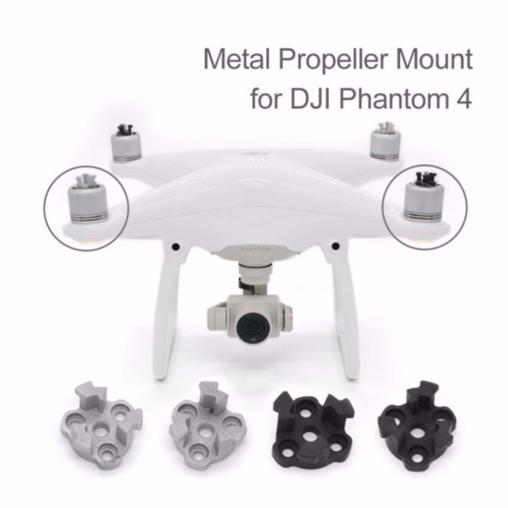 4pcs-DJI-phantom-4-Metal-Propeller-Bracket-Mount-for-Phantom4-Silve-black-Holder-Adapter-motor-connector