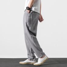 Plus Size Cotton Linen Harem Pants Mens Jogger 2019 New Arrive Male Solid Casual Summer Track Straight Trousers