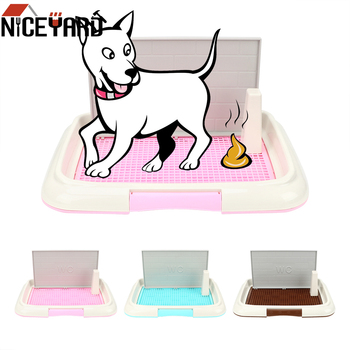 NICEYARD Dog Toilet Potty Puppy Litter Tray Pee Training Toilet Pet Toilet Easy to Clean Bedpan Lattice Pet Product