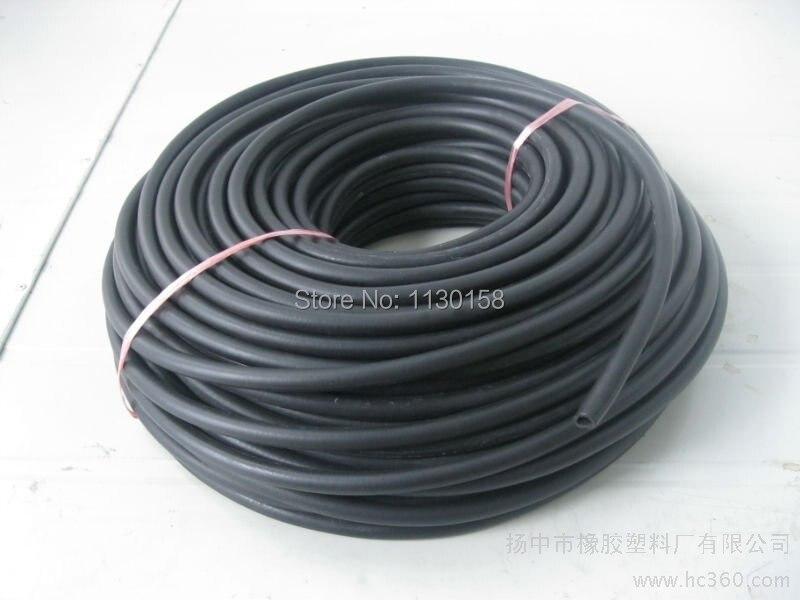 Diameter 7mmX2meters Length FKM Rod/Fluorubber Cord, 100% virgin Viton Rubber material, Black Color