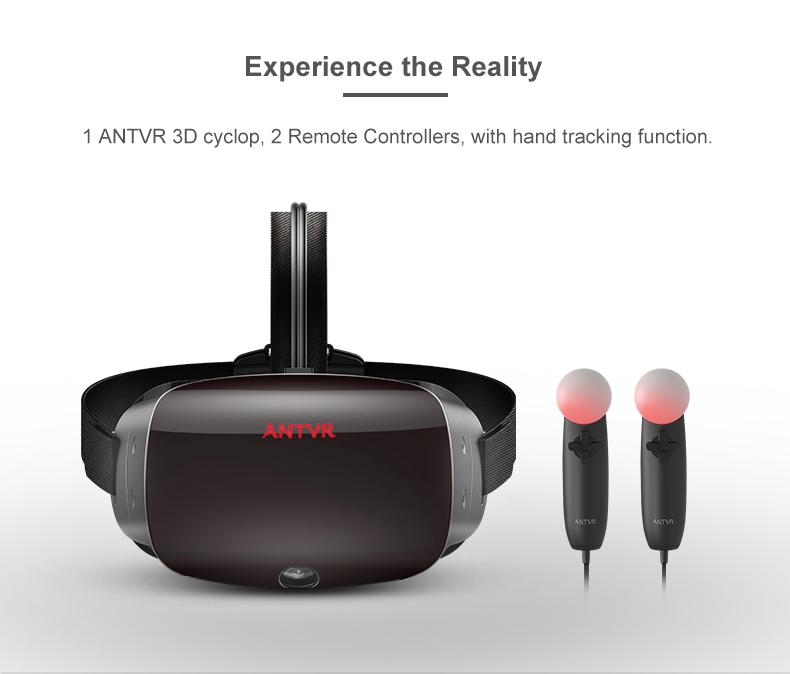 ANTVR 17 New Virtual Reality Glasses Headset for PC Virtual pc Glasses Binocular 110 FOV 2160*10P VR box Immersive 3D VR 3