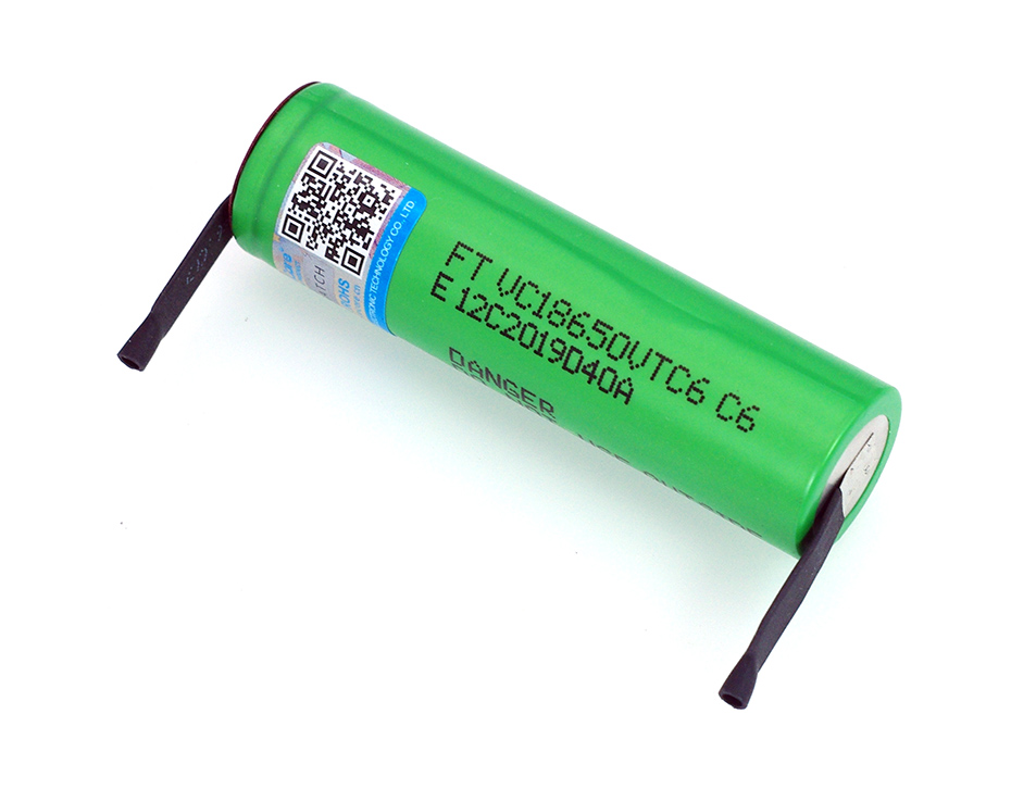 Image 2 - VariCore VTC6 3.7V 3000 mAh 18650 Li ion Rechargeable Battery 30A Discharge VC18650VTC6 batteries + DIY Nickel Sheets-in Replacement Batteries from Consumer Electronics