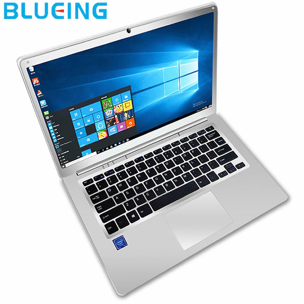 Free Shipping 14.1 Inch Sliver Color Laptop 2GB 32GB SSD Intel Z8350 HD 1920*1080  Windows 10 WIFI Bluetooth Notebook Computer