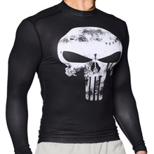 3D T shirt in printing of skull Superman Batman spider man captain America Hulk quick dry sweat absorption fitness shirts