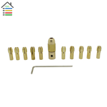 12pc/Set Mini Drill Brass Collet Chuck for Dremel Rotary Tool Including 0.5/0.8/1.0/1.2/1.5/1.8/2.0/2.4/3.0/3.2mm