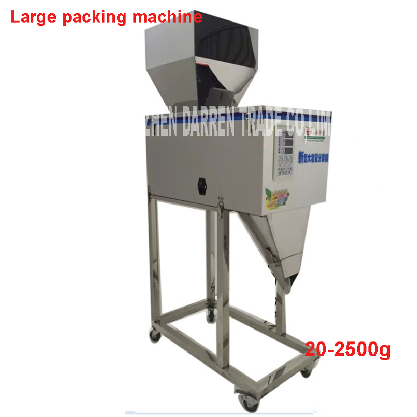 20-2500g scale automatic stuffing machine of herbs and of the weight of wheat leaf,medicine,seed,rice tea packing machineDX-2500