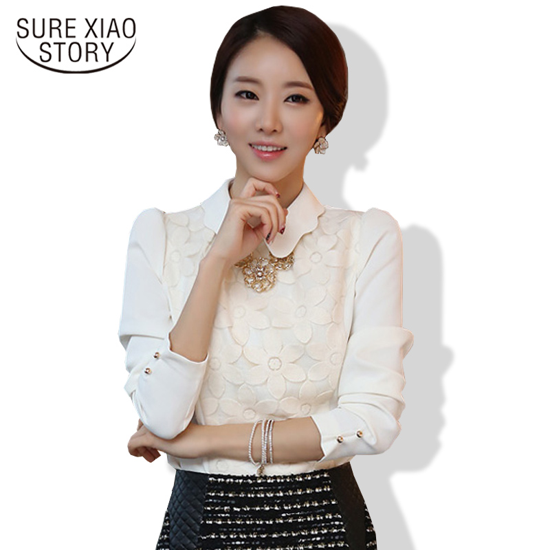 Spring And Autumn 2016 New Arrival Hot Sale Women Fashion Tops Korean Long Sleeved Chiffon Shirt