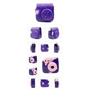 Image 2 - Kit de accesorios 7 en 1 para Fujifilm Instax Mini 8/8 +/8s/9/funda de cámara/correa/Espejo Selfie/filtro/Álbum/película, bordes adhesivos, etc