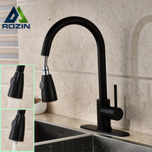 Good Quality One Handle Pull Out Kitchen Mixer Taps Single Hole One Handle Hot and Cold Dual Sprayer Kitchen Faucets
