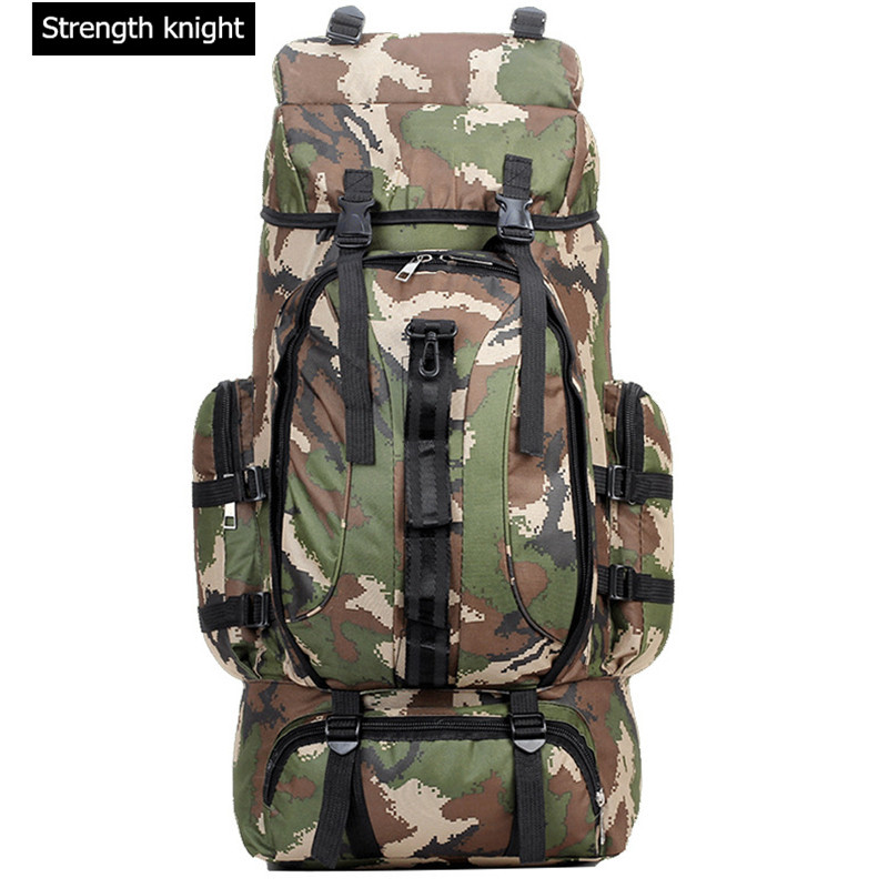 70L Men Military Backpack Large Capacity Camouflage Bag Women Mountaineering Backpack Waterproof Travel Bag 60l men s bags large outdoor mountaineering bag military waterproof backpack bag travel backpack a3119 x