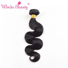 Wonder Beauty Brazilian Body Wave Human Hair Bundle Deal 1 piece can buy 3 or 4 bundles 8-30 Inch nonremy Hair Weaving#1b #2 #4
