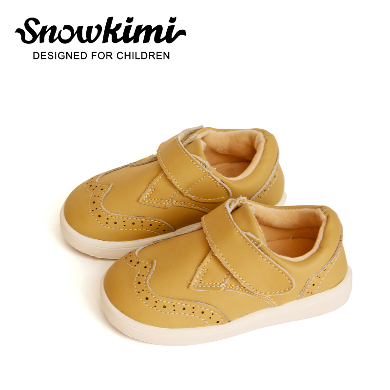 2018 Snowkimi toddler boy shoes Leather Casual Shoes Children's Solid 1-3 Years Old Boy Baby Flat Heel Latex New Freeshipping adult 1 5 heel baby louis character tap shoes t9800