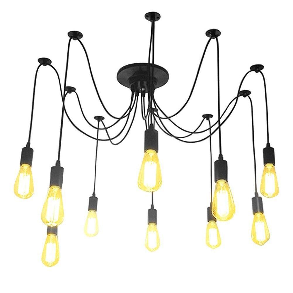 retro edison bulb fixture pendant chandelier vintage loft antique adjustable e27 ac110220v ceiling lamp - Edison Chandelier