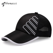 Fibonacci 2019 New Summer Mesh Baseball Caps Hats for Men Women Outdoor Casual Sunscreen Snapback Caps цена 2017