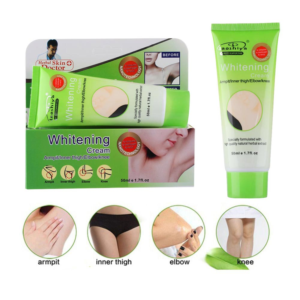 Armpit Elbow Knee Thigh Skin Whitening Lightening Body Concealer Bleaching Cream Beauty Cosmetic 50g