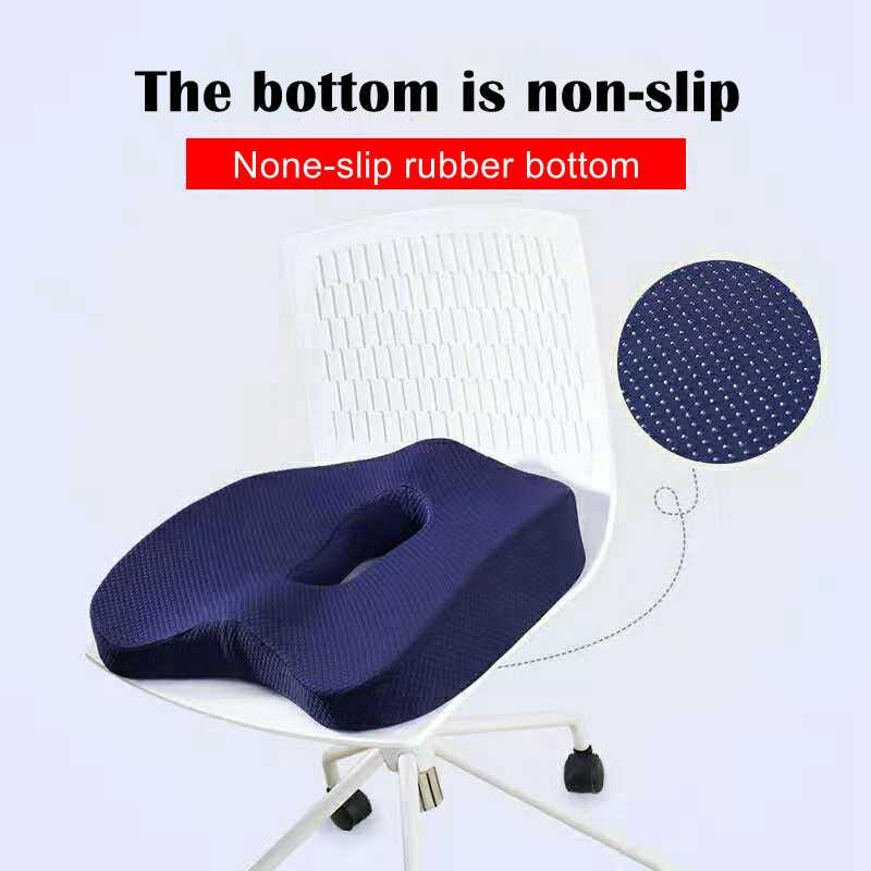 Non - Slip โฟมเบาะที่นั่งสำหรับรถกลับสนับสนุนอาการปวดตะโพกปวด Tailbone Relief หมอนรถเข็น Office เก้าอี้เบาะ