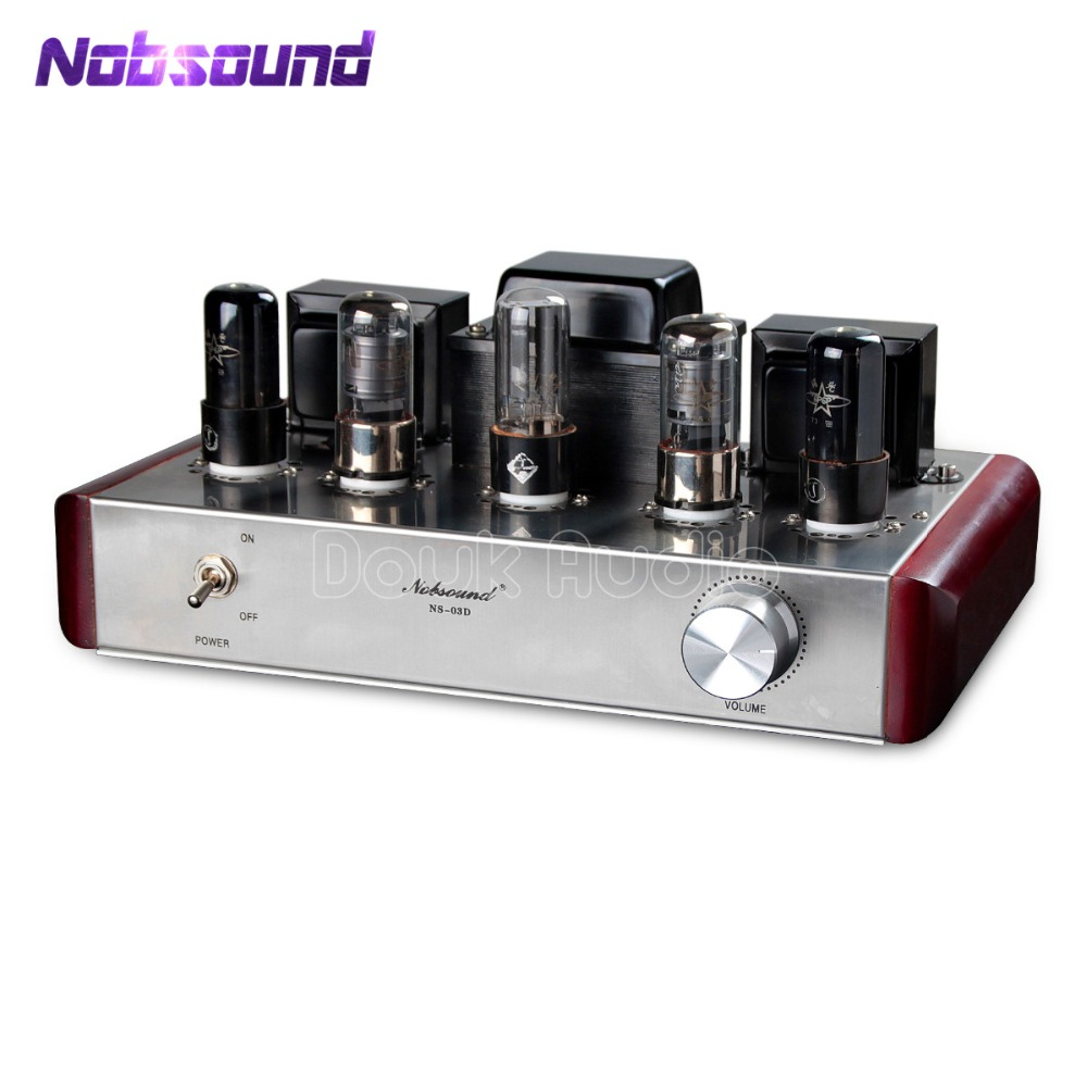 Nobsound 6P6P+6J8P Valve Tube Amplifier Single-ended Class A HiFi Stereo Power Amplifier 4Wx2 цена
