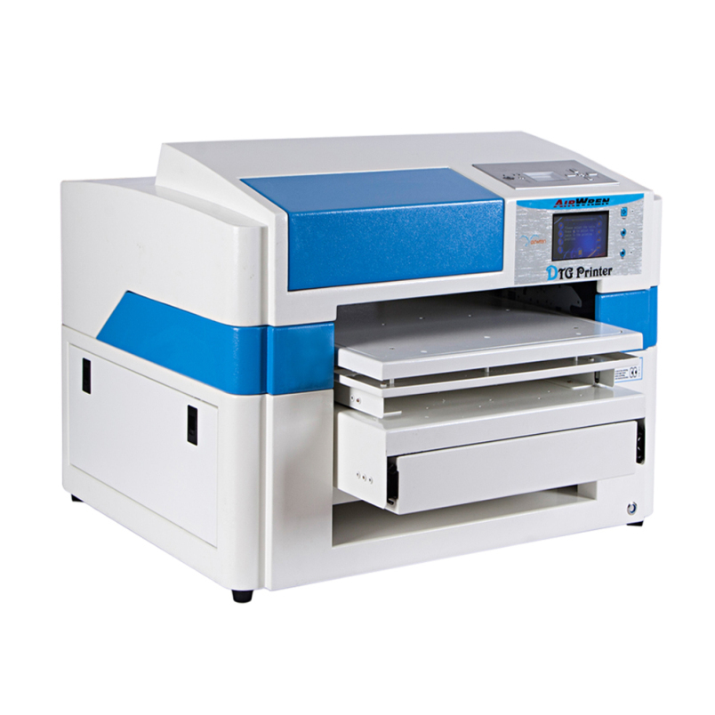 US $3790 0 |A2 Size Flatbed T shirt Printer Automatic Cotton Fabric  Printing Machine With CE Approved-in Printers from Computer & Office on