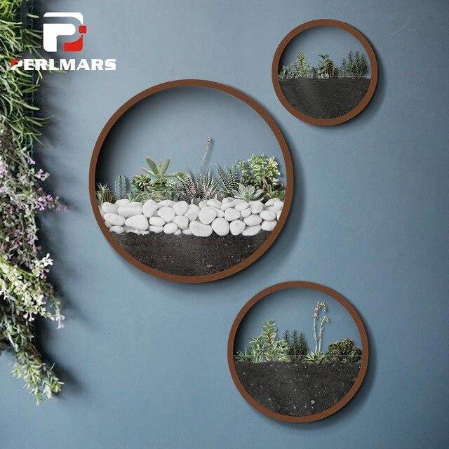 Modern Wall Vase Hanging Vases Artificial Flower Basket Holder Iron