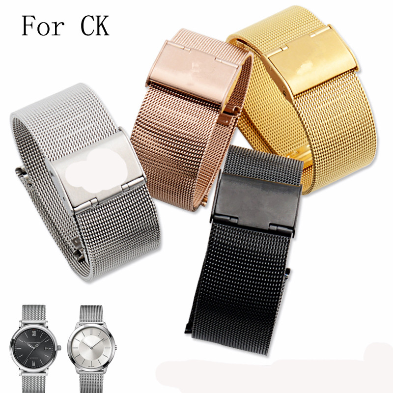 10mm 12mm 14mm 16mm 18mm 20mm 22m 24mm Stainless Steel Watchband Watch Strap For CK With LOGO