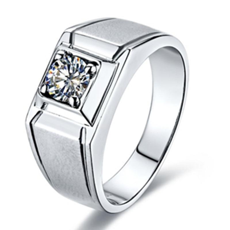 1CT Scrub Style Men Ring Simulate Diamond Jewelry Male ...